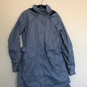 Columbia Blue Long Rain Jacket
